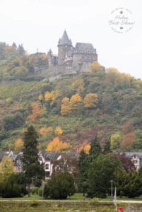 The Middle Rhine, or Rhine gorge was formed by downwards erosion of the river. With its dense mysterious forested banks and cliff top castles it is the stuff of Wagnerian legend, and easy to imagine the Rhinemaidens playing in the water, and singing as they guard their gold.