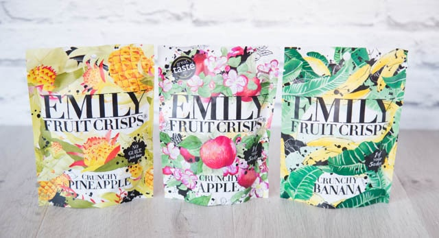 Emily Fruit Crisps - healthy banana, apple and pineapple snacks