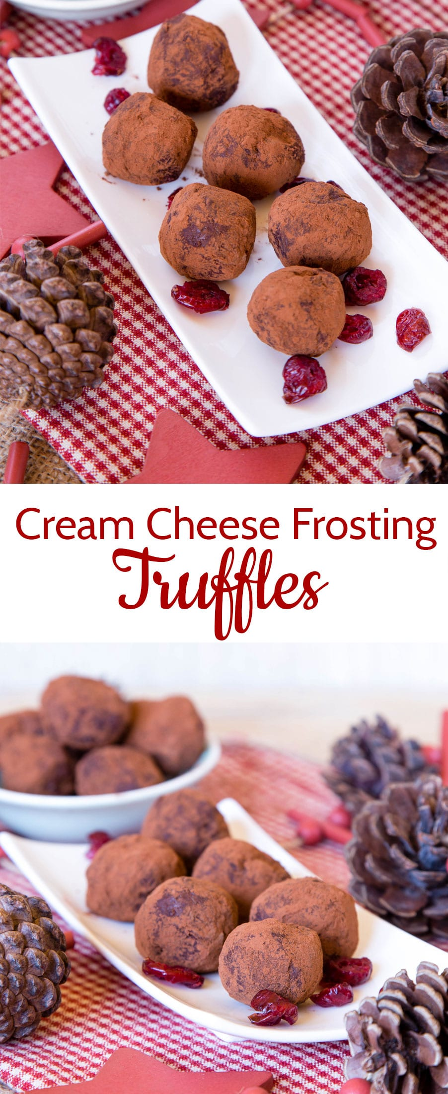 These chocolate truffles are quick and easy to make with leftover cream cheese frosting