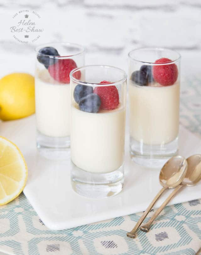 An easy lemon posset recipe - a rich & delicious, quick & easy dessert which will freeze well and only use 3 ingredients!