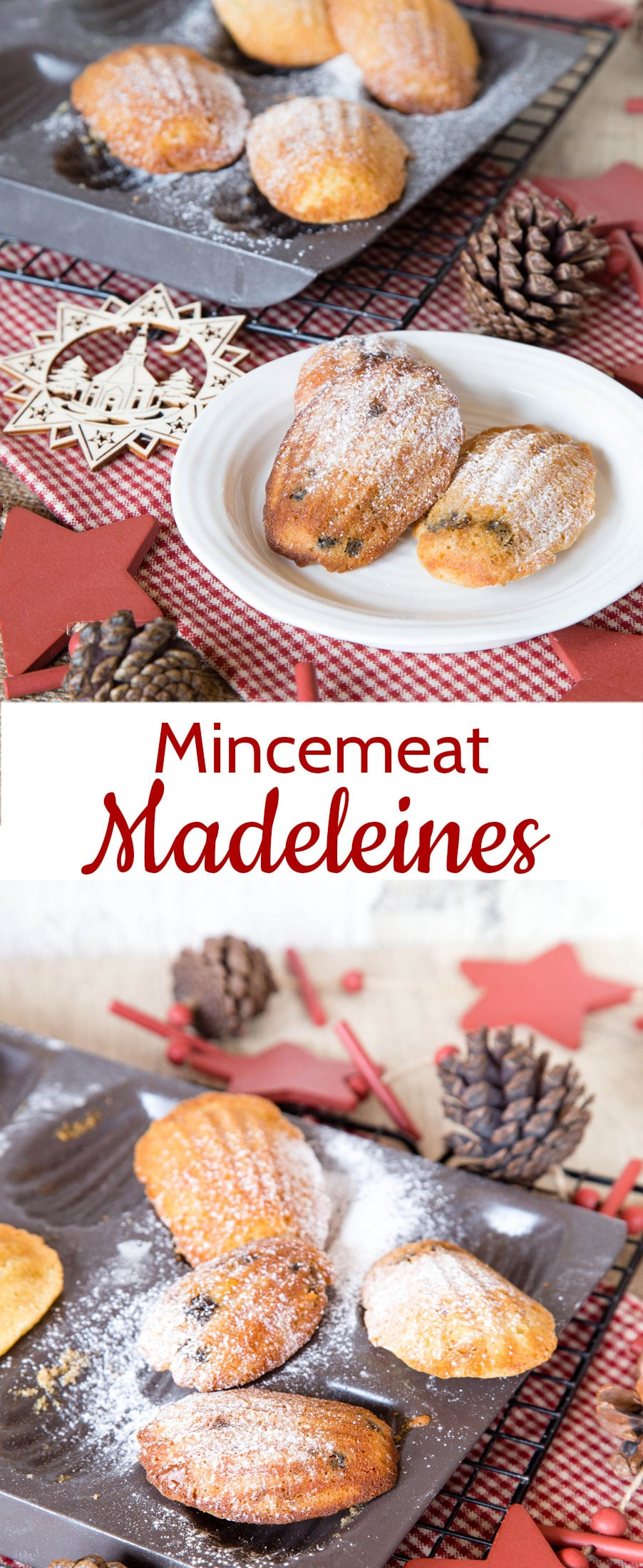 Mincemeat Madeleines are a sweet twist on the traditional Madeleine. Just start with a traditional Madeleine batter and add your favourite mincemeat!
