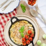 Turkey, Sprout and Stilton Pasta Bake