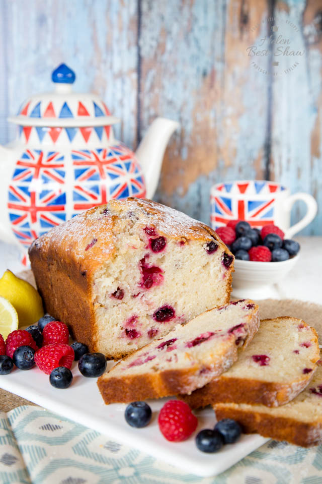 The addition of yogurt makes this berry loaf cake so moist and soft.