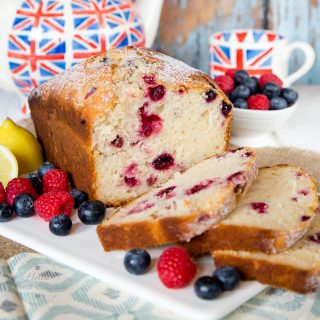 Lemon & Berry Yogurt Loaf Cake