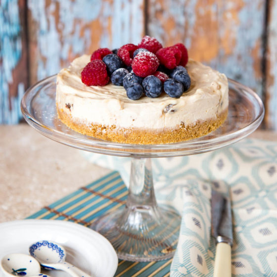 No Bake Mincemeat Cheesecake