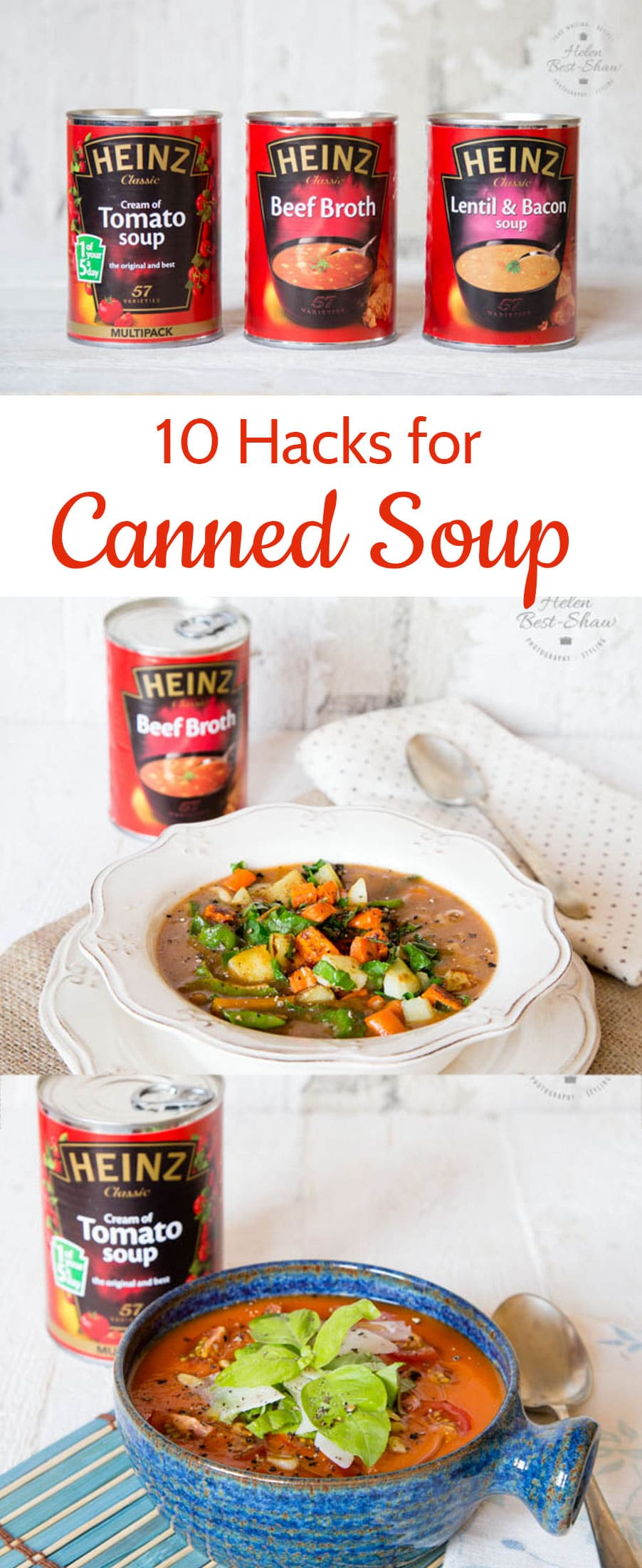 Canned soups make an excellent base for a meal, here are some handy, easy tips to perk up your soup from the store cupboard.