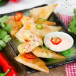 Samosas are fantastically easy to make, as well as adaptable. These are filled with cooked rice, Princes diced ham, leftover roast chicken and some sweetcorn. These are great to serve at a party, and ideal for older children to help fold.