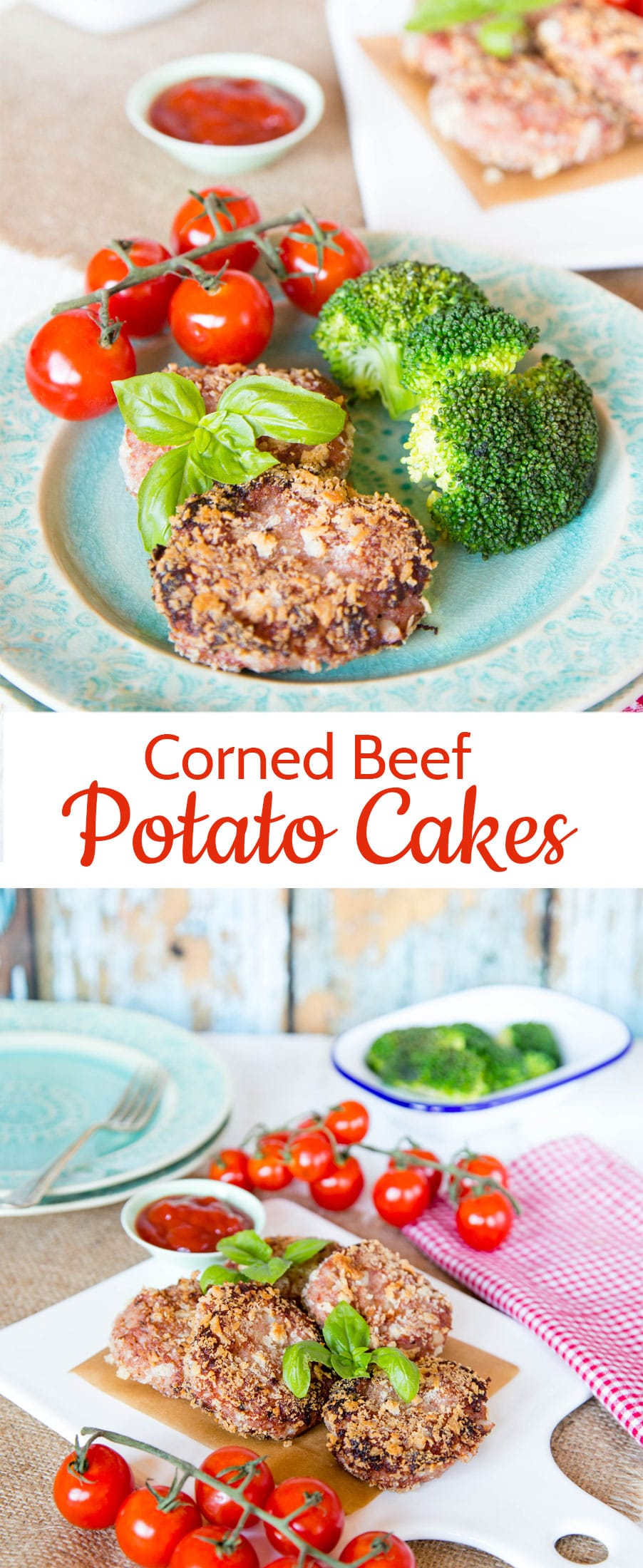 An easy recipe for comforting corned beef and potato cakes; this recipe is a great way to use up leftover boiled potatoes.