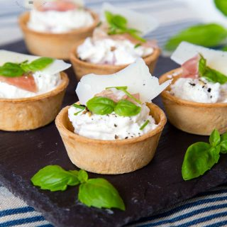 Perfect Party Food! These Grana Padano & Prosciutto di San Daniele Canapés are quick and easy to make and will have your guests flocking around you when you serve them
