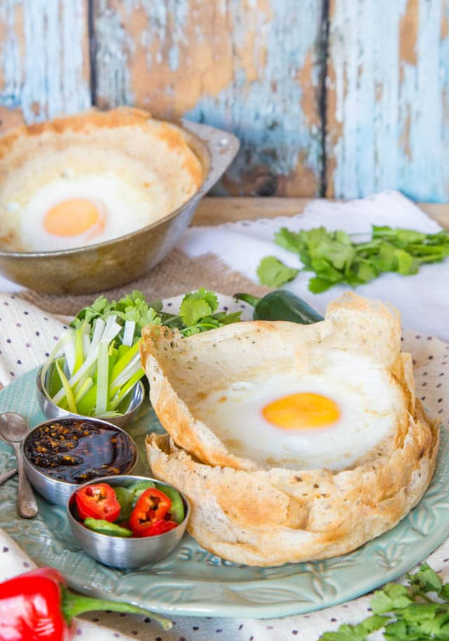 These delicious Sri Lankan hoppers are a great breakfast or brunch alternative