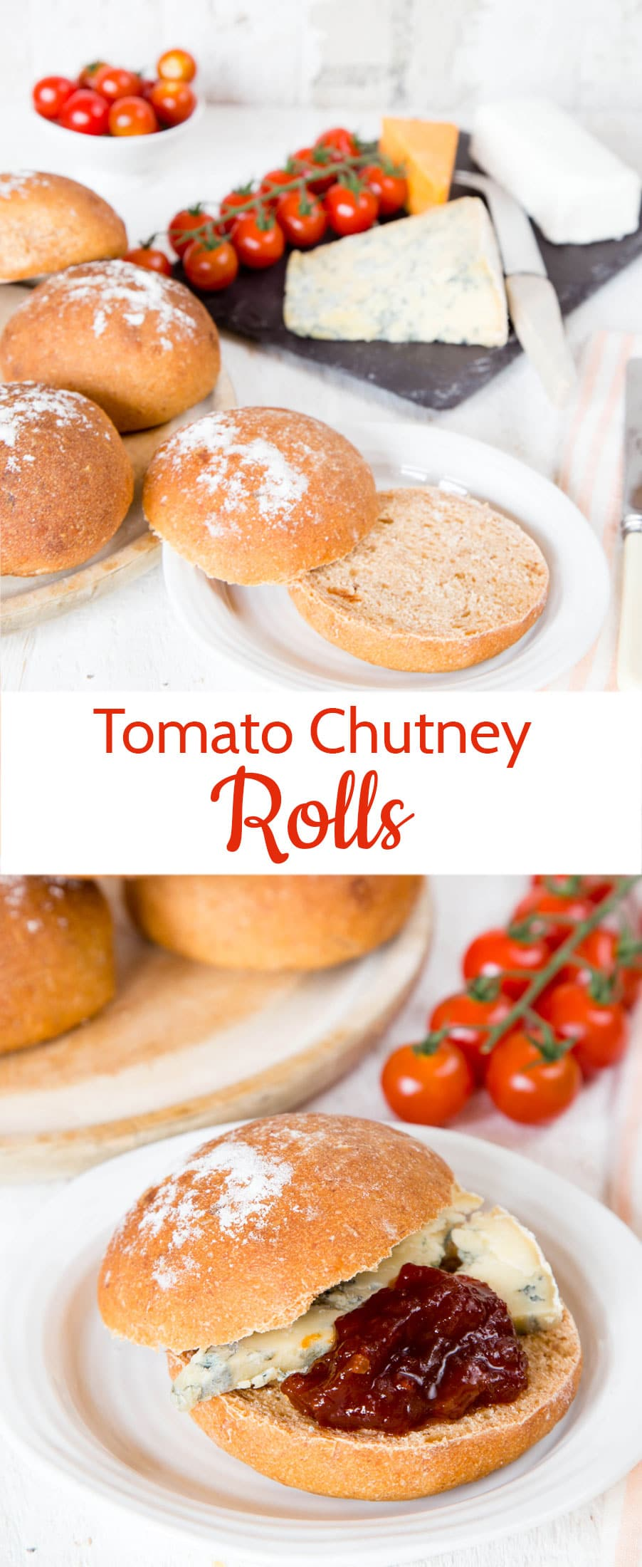 Tomato chutney rolls are a wonderful way to use up a half jar of chutney