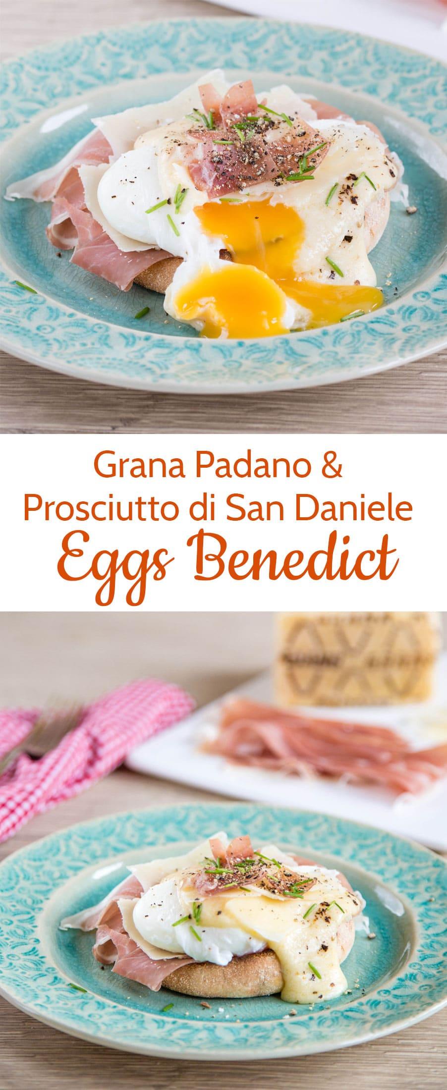 A delicious Italian eggs Benedict, made with Grana Padano & Proscuitto di San Daniele