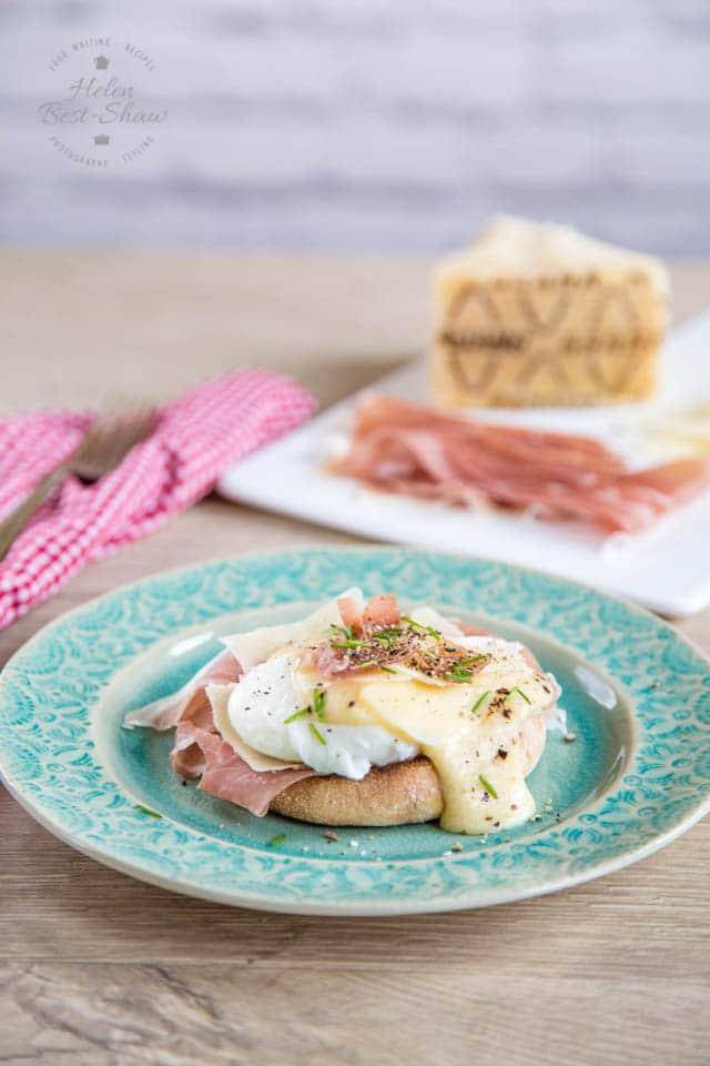 Delicious Italian eggs Benedict, made with Grana Padano & Prosciutto di San Daniele
