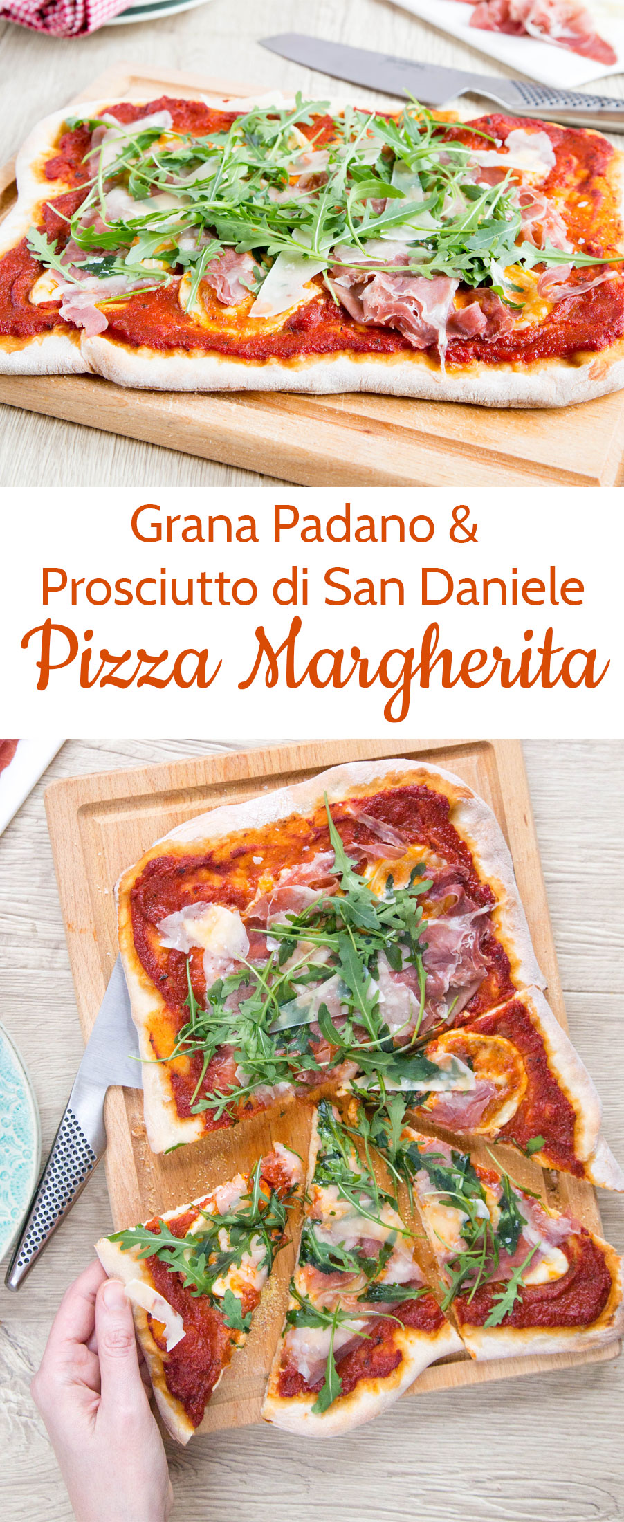 Deliver your own treat with a home made pizza with Grana Padano and Prosciutto di San Daniele