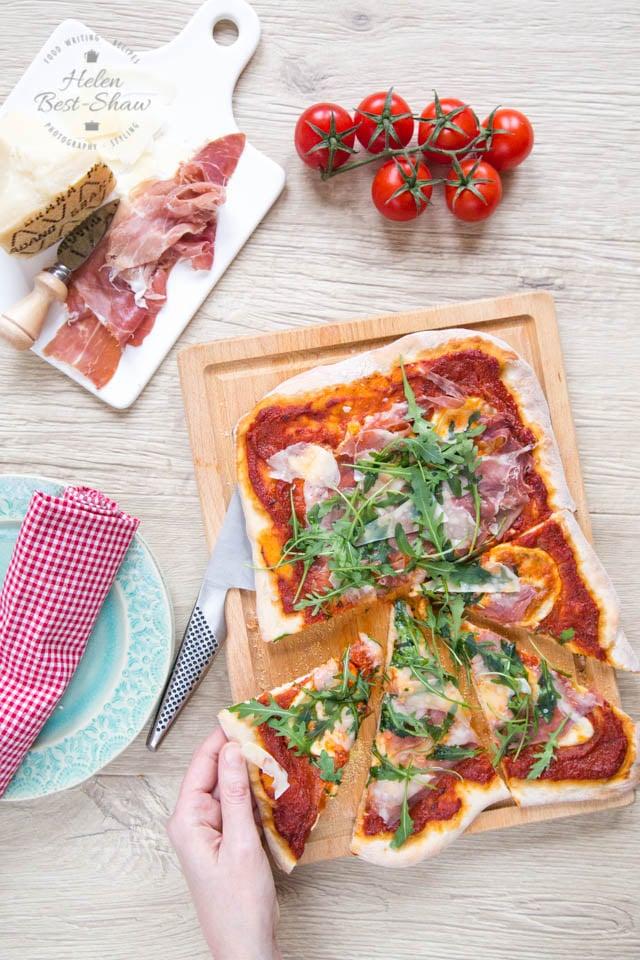 Deliver your own treat with ahome made pizza with Grana Padano and Prosciutto di San Daniele