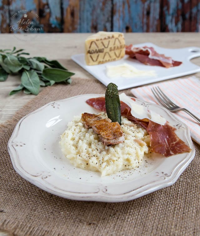 Rich risotto with a surprisingly easy hint of sophistication from roast quail