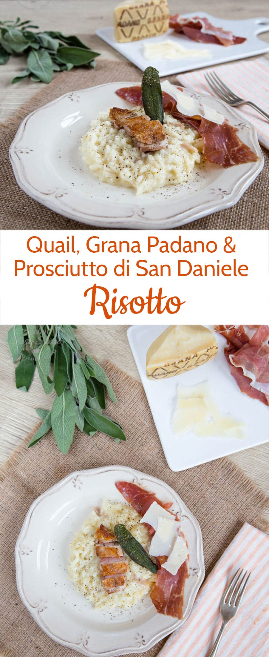 Treat yourself to something a little out of the ordinary with this quail & Grana Padano risotto with Prosciutto di San Daniele by Giorgio Locatelli