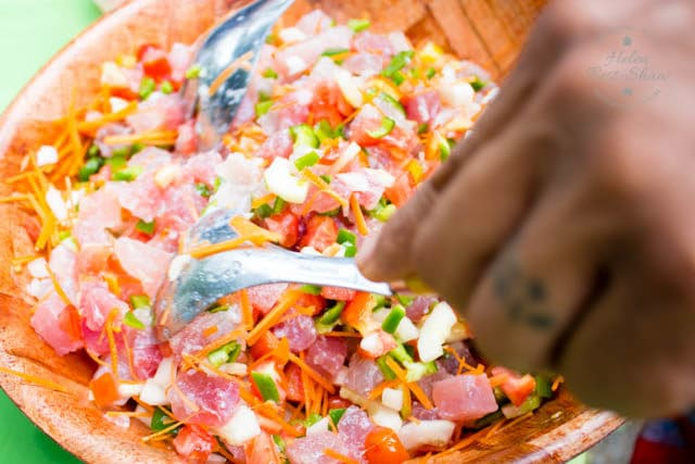 If you love sushi this simple-to-make Tahitian poisson cru, or ceviche, will become a firm favourite. Quick, easy and adaptable, as well as being packed with vegetables.