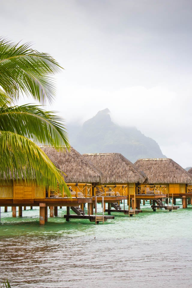 The mountains of Bora Bora in the mist