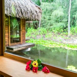 Treatment rooms at the Pearl Beach Resort and Spa Bora Bora