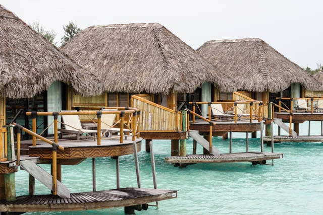 overwater bungalows on Bora Bora