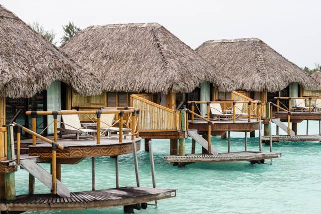 overwater bungalows on Bora Bora