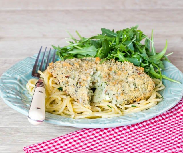 Goodlife food's excellent mushroom and spinach vegetarian Kievs.