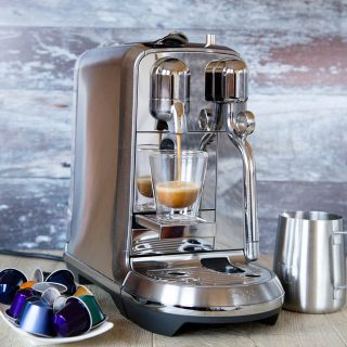 The Nespresso Creastia Plus machine, makes it easy to be your own barista and make a range of perfect coffee at home.