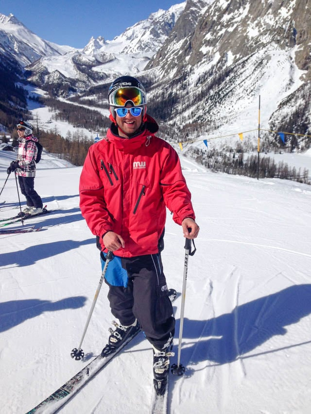Skiing in Courmayeur Italy -7