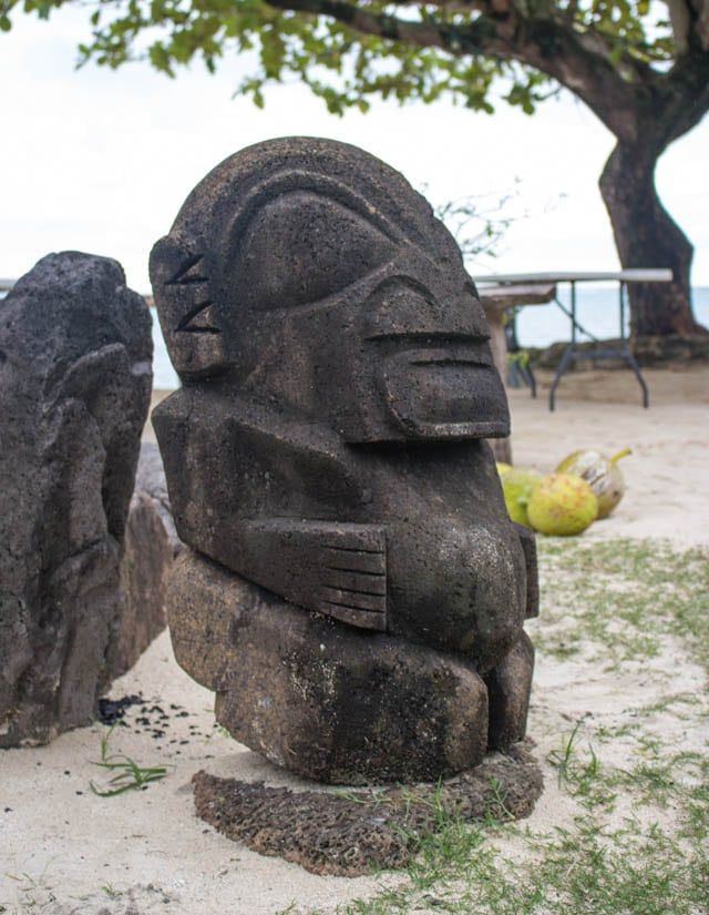 Tahitian Statue on Moorea