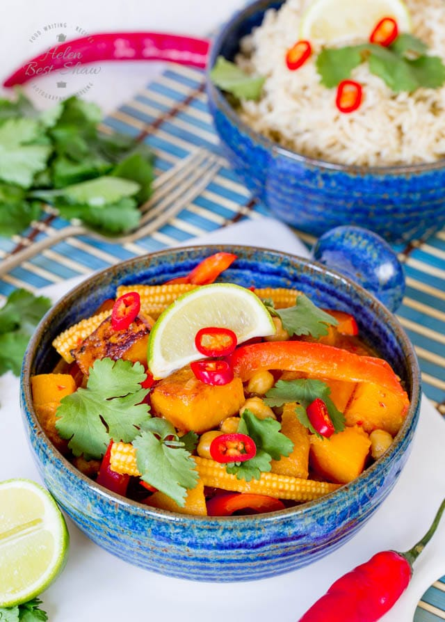 Make your own quick and easy vegan red Thai curry paste and cook this delicious version in next to no time. Prep ahead cooking at its best.