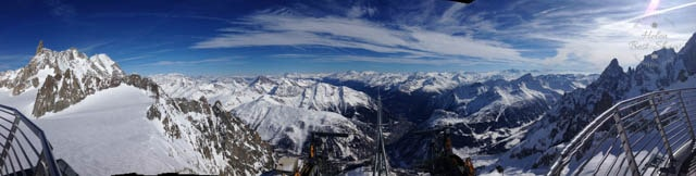 View from the Mont Blanc Skyway