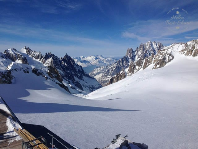 View from the Mont Blanc Skyway into France