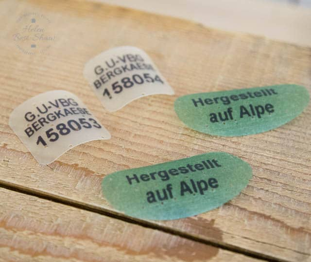 A sticker for the diary is added to the cheese