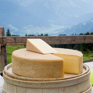 Austrian mountain cheese, made in the traditional way in a small mountain diary