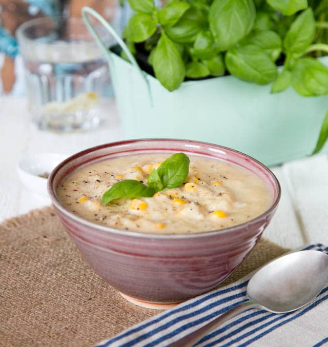 Hearty chicken and sweetcorn chowder from Baxters