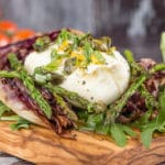 Radicchio, Asparagus & Burrata Salad with a Lemon, Caper & Manuka Honey Dressing