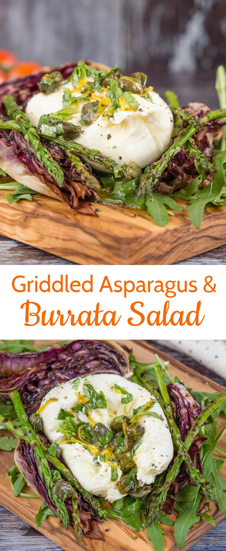 This easy to make burrata salad is packed with contrasting flavours and textures and is simple enough for a weekday lunch, or impressive enough for a dinner party.