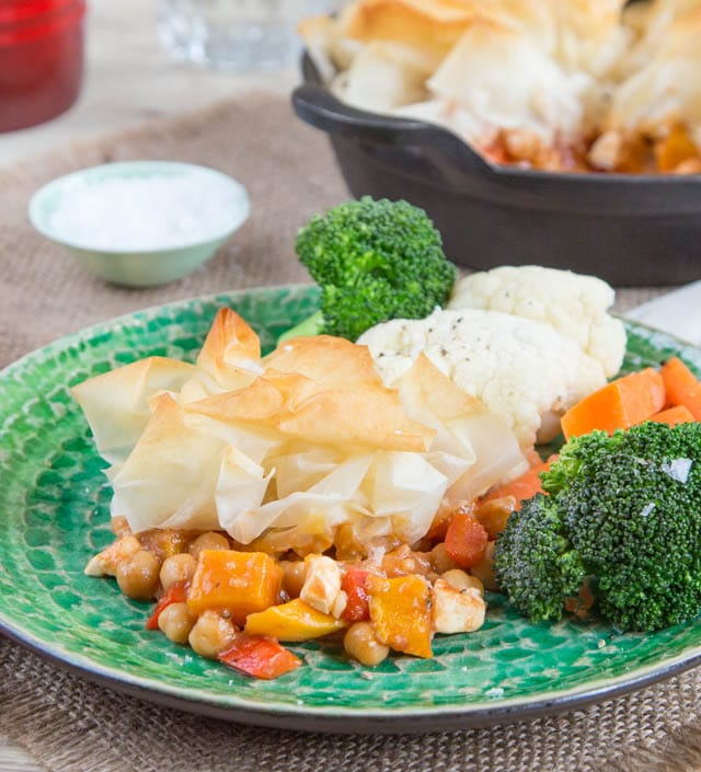 This make ahead easy vegetarian pie takes just 20 minutes to bake in the oven