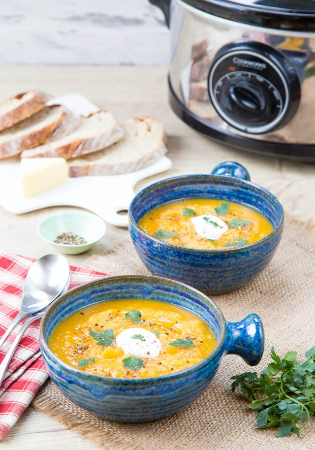You will love this easy to make delicious, healthy no fat slow cooker vegetable soup