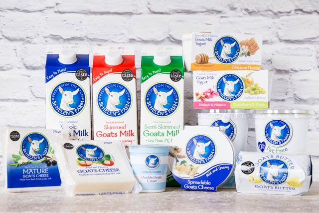 Delicious Goat's milk products from St Helen's Farm