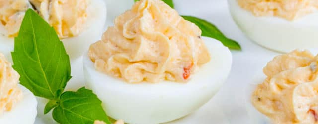 Spicy cheesy jalapeno deviled eggs