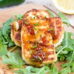 Crispy Fried Marinated Halloumi