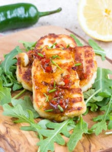 Crispy fried marinated halloumi cheese - Quick, easy and satisfying