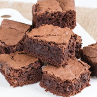 Rich, chocolatey and delicious mayonnaise chocolate brownies