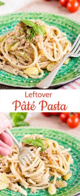 This leftover pâté pasta sauce is perfect for using up leftovers of delicious versatile pâté