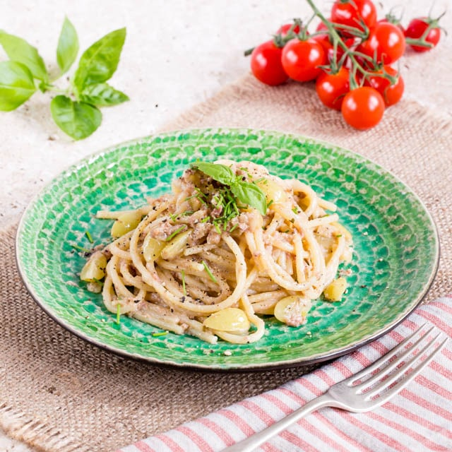 Some leftover pate is a great starting point for a quick pasta sauce. Perfect for a tasty meal in minutes.