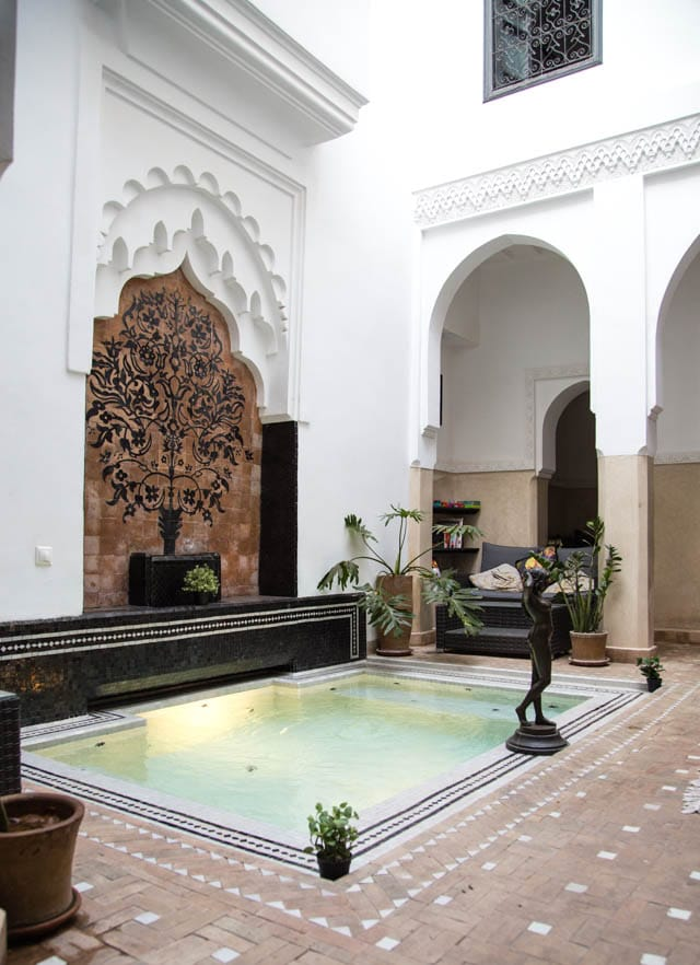 Courtyard pool in the Riad Star Marrakech