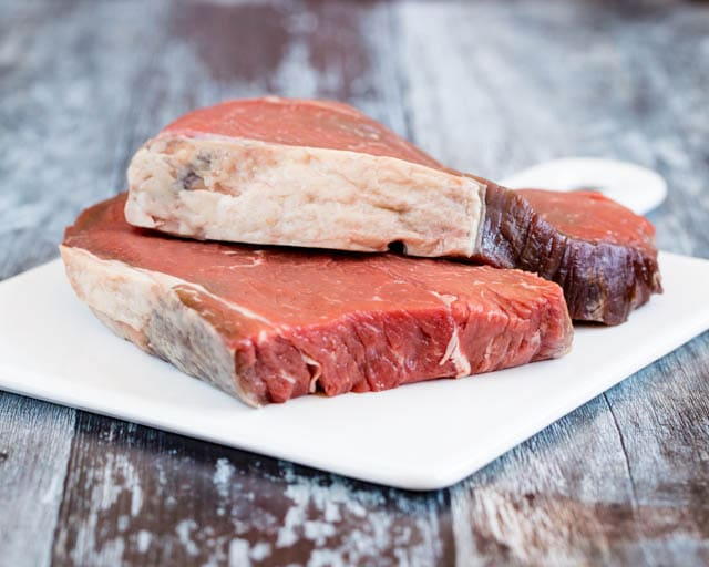 High quality aged Irish rump steak.