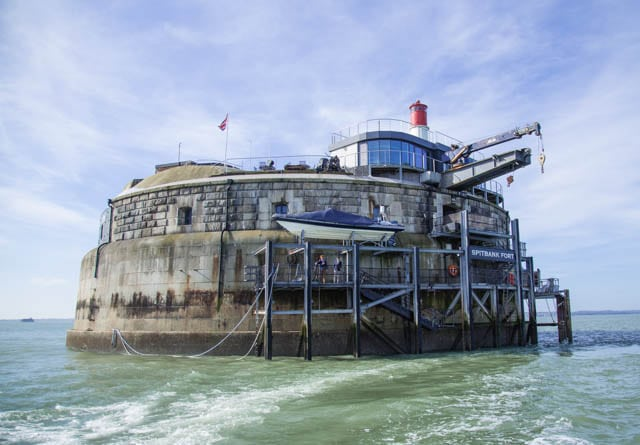 Spitbank Fort - a luxurious private retreat in the middle of The Solent